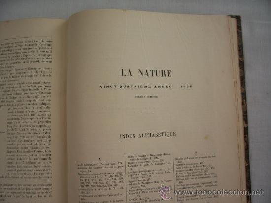 Libros antiguos: LA NATURE - REVUE DE SCIENCES - 1896 - PREMIER SEMESTRE - ENVÍO GRATIS - Foto 9 - 31221639