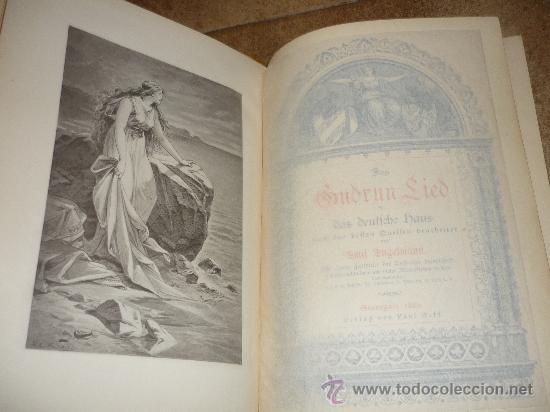 Libros antiguos: DAS GUDRUN LIED DAS DEUTFCHE HAUS VON Emil Engelmann STUTTGART 1886 - Foto 2 - 31224362