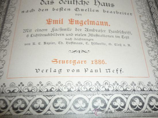 Libros antiguos: DAS GUDRUN LIED DAS DEUTFCHE HAUS VON Emil Engelmann STUTTGART 1886 - Foto 5 - 31224362