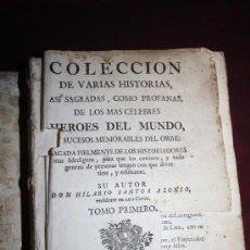 Libros antiguos: 0417- DE VARIAS HISTORIAS, ASI SAGRADAS, COMO PROFANAS, DE LOS MAS CELEBRES HEROES DEL MUNDO. Lote 31239505