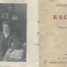 Libros antiguos: ERNEST VENDRELL.LLIBRES ANTICS.RARS. ESCRITS. PROLEG D' EN JAUME BROSSA. BARCELONA ANY 1911.. Lote 31263901