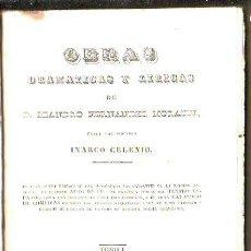 Libros antiguos: OBRAS DRAMATICAS Y LIRICAS DE LEANDRO FERNANDEZ MORATIN - 6 TOMOS EN 3 VOLUMENES. MADRID 1840. Lote 31344255