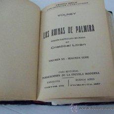 Libros antiguos: LAS RUINAS DE PALMIRA Y OTRAS OBRAS.... 1.867 . Lote 31590484