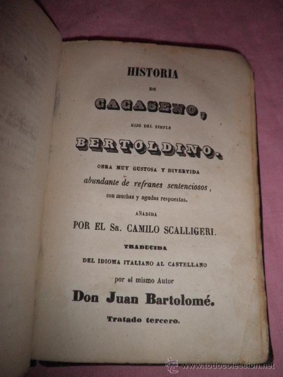 Libros antiguos: HISTORIA DE LA VIDA Y ASTUSIAS DEL RUSTICO BERTOLDO - AÑO 1856 - GRABADOS XILOGRAFICOS. - Foto 6 - 31532102