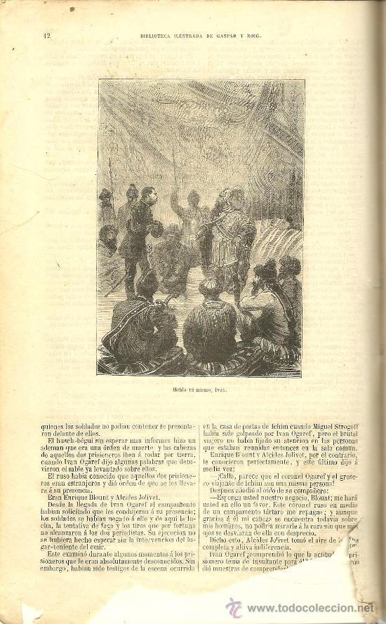 Libros antiguos: Volumen facticio con obras de Julio Verne en la edición ilustrada de Gaspar y Roig - 1876 - Foto 7 - 31639211