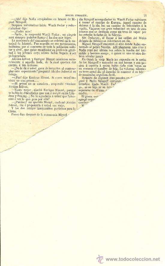 Libros antiguos: Volumen facticio con obras de Julio Verne en la edición ilustrada de Gaspar y Roig - 1876 - Foto 8 - 31639211