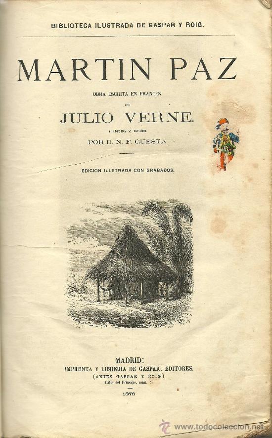 Libros antiguos: Volumen facticio con obras de Julio Verne en la edición ilustrada de Gaspar y Roig - 1876 - Foto 3 - 31639211