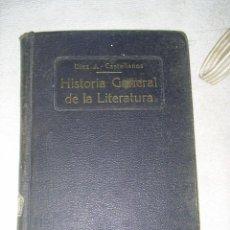 Libros antiguos: HITORIA GENERAL DE LA LITERATURA POR PILAR DIEZ Y J,CASTELLANOS - 1932 - 173 PAGINAS - IMPRENTA CL . Lote 31808128