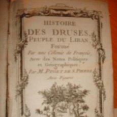 Libros antiguos: HISTOIRE DES DRUSES 1763 HISTORIA DE LAS COLONIAS FRANCESAS. Lote 31736621