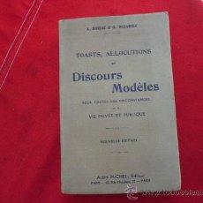 Libros antiguos: DISCOURS MODELES, DORIAC & DUJARRIC. EN FRANCÉS. L 607. Lote 31753916