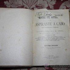 1171- 'MANUAL DEL ARTILLERO Y DEL ASPIRANTE Á CABO' IMPR. DE EDUARDO ARIAS MADRID 1915