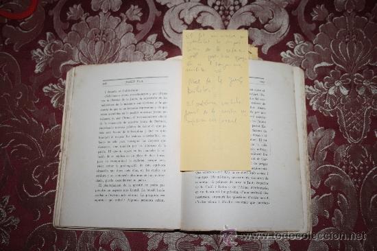 Libros antiguos: 1526- INTERESANTE LIBRO REPLETO DE APUNTES DE PERE PUIG QUINTANA 'CAMBÓ' POR JOSEP PLA - Foto 4 - 31765865