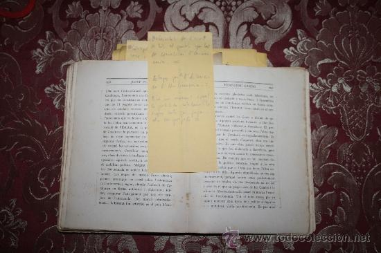 Libros antiguos: 1526- INTERESANTE LIBRO REPLETO DE APUNTES DE PERE PUIG QUINTANA 'CAMBÓ' POR JOSEP PLA - Foto 8 - 31765865