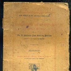 Libros antiguos: MONUMENTO DE GRATITUD AL PUEBLO DE CADIZ. 1º CENTENARIO DEL SITIO CONSTITUCION Y CORTES DE CADIZ. Lote 31846357