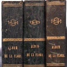 Libros antiguos: ALBUM DE LA FLORA MÉDICO-FARMACÉUTICA,LÁMINAS,VICENTE MARTÍN ARGENTA,3 TMS, MADRID,GALERÍA LIT,1862. Lote 32068496