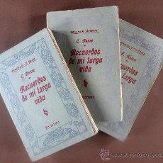 Libros antiguos: RECUERDO DE MI LARGA VIDA. CONRADO ROURE. TOMOS I-II-III. Lote 32116469