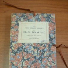 Libros antiguos: LES PLUS BELLES OEUVRES DE GILLES DEMARTEAU. ALBUM DE 48 PLANCHES. TIRÉES EN SANGUINE.. Lote 32237513