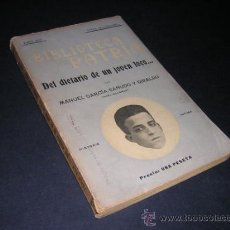 Libros antiguos: 1915 - GARCIA SAÑUDO Y GIRALDO - DEL DIETARIO DE UN JOVEN LOCO.... Lote 32189694