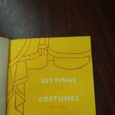 Libros antiguos: SETTINGS & COSTUMES OF THE MODERN STAGE. 1933. ENCUADERNADO.. Lote 32209715