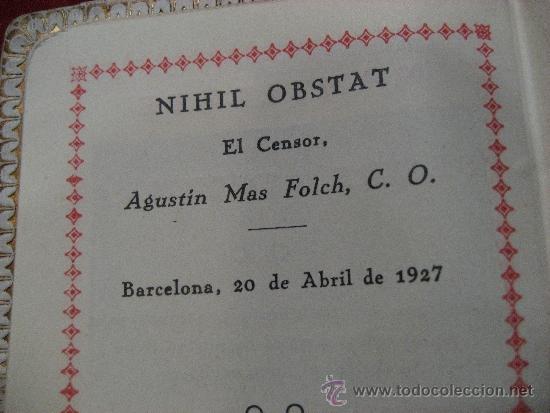 Libros antiguos: DEVOCIONARIO DE 1927 RAMILLETE DE FLORES DIVINAS - Foto 4 - 72364131