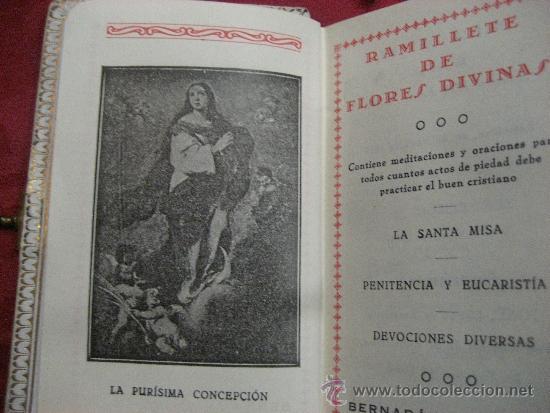Libros antiguos: DEVOCIONARIO DE 1927 RAMILLETE DE FLORES DIVINAS - Foto 5 - 72364131