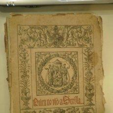 Libros antiguos: ANTIGUO LIBRO SOBRE SEVILLA. Lote 32472848