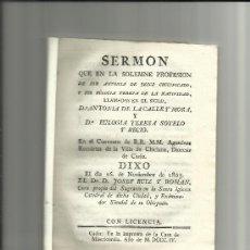 Libros antiguos: CÁDIZ. 1804. Dª. ANTONIA DE LA CALLE Y MORA Y Dª, EULOGIA TERESA SOTELO Y RECIO.. Lote 32543611