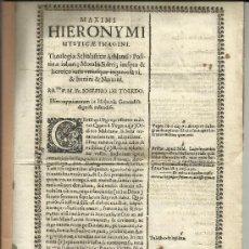 Libros antiguos: SEVILLA. 1669. MAXIMI HIERONYMI MYSTICAE IMAGINI.. Lote 32611780