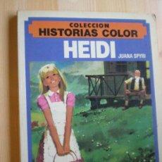 Libros antiguos: HEIDI. JUANA SPIRI. ILUSTRACIONES EN COLOR. Lote 32677612