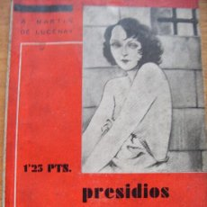 Libros antiguos: PRESIDIOS REGIMIENTOS Y BARCOS - MARTIN DE LUCENAY - EDITORIAL FENIX. MADRID 1933. Lote 32671512
