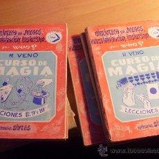 Libros antiguos: CURSO DE MAGIA. LOTE 5 TOMOS COLECCION COMPLETA A FALTA DEL 1 ( BIBLIOTECA JUEGOS) ED. SINTES (LBB2). Lote 32742667