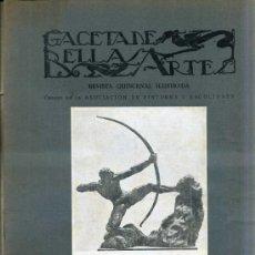 Libros antiguos: GACETA DE BELLAS ARTES Nº 288 (MAYO 1926) . Lote 32752824