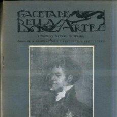 Libros antiguos: GACETA DE BELLAS ARTES Nº 287 (MAYO 1926) . Lote 32752831