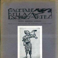 Libros antiguos: GACETA DE BELLAS ARTES Nº 311 (MAYO 1927) . Lote 32752852
