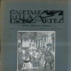 Libros antiguos: GACETA DE BELLAS ARTES Nº 286 (ABRIL 1926) ESPECIAL SOROLLA. Lote 32752861