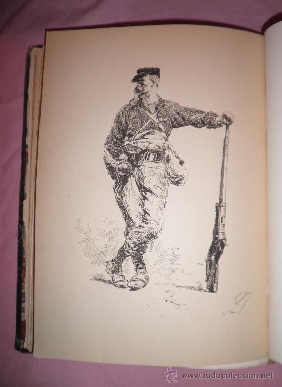 Libros antiguos: A GOLPES DE FUSIL - QUATRELLES - AÑO 1877 - BELLAS LAMINAS GRABADAS DE NEUVILLE. - Foto 3 - 32761530