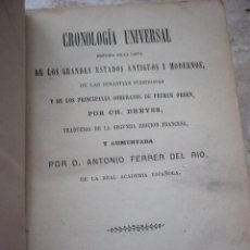 Libros antiguos: CRONOLOGIA UNIVERSALSEGUIDA DE LA LISTA DE LOS GRANDES ESTADOS ANTIGUOS Y MODERNOS DE LAS DINASTIAS. Lote 32793547