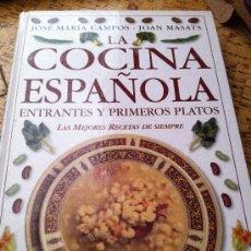 Libros antiguos: COCINA ESPAÑOLA, 2 TOMOS. Lote 32846428