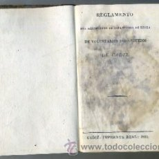 Libros antiguos: REGLAMENTO DEL REGIMIENTO DE INFANTERIA DE LINEA DE VOLUNTARIOS DISTINGUIDOS DE CADIZ. Lote 32986925