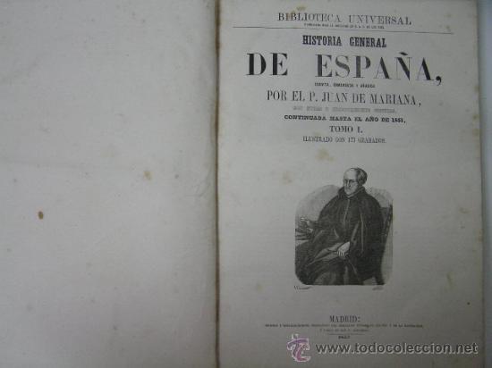 Libros antiguos: historia general de españa tomo I, juan de mariana, 1852 ,ref GRABADOS - Foto 8 - 33007210