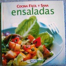 Libros antiguos: ENSALADAS - COCINA FACIL Y SANA - RECETAS DE COCINA. Lote 206990611