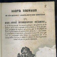 Libros antiguos: BREVE RESUMEN DE LOS ESCESOS Y ARBITRARIEDADES COMETIDAS POR DON JOSE ILDEFONSO SUAREZ + LA BREVE RE. Lote 33062755