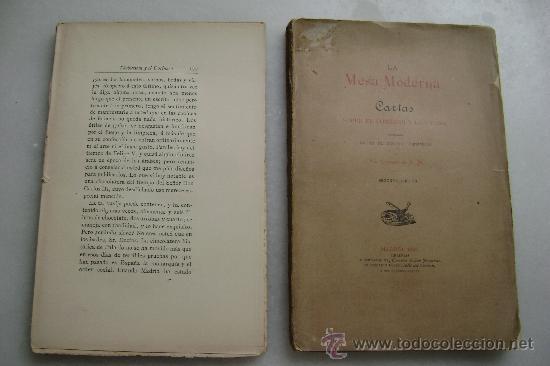 Libros antiguos: LA MESA MODERNA.CARTAS SOBRE EL COMEDOR Y LA COCINA.216 - Foto 3 - 33086943