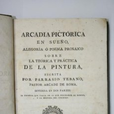 Libros antiguos: LIBRO ANTIGUO. PRECIADO VEGA. ARCADIA PICTORICA. IMPRENTA SANCHA. MADRID 1789. PINTURA.. Lote 33134458