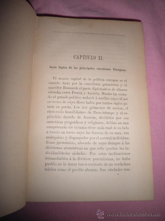 Libros antiguos: HISTORIA DEL AÑO 1883 - EMILIO CASTELAR - AÑO 1884 - EN PIEL. - Foto 3 - 33134229