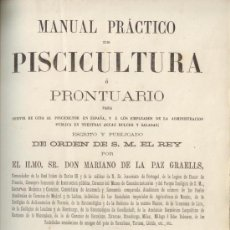 Libros antiguos: MANUAL PRACTICO PISCICULTURA. MADRID 1864. LIBRO ANTIGUO. PECES. . Lote 33218510