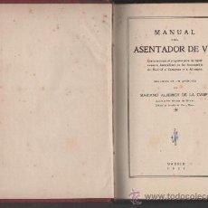 Libros antiguos: MANUAL DEL ASENTADOR DE VIA MADRID 1927. Lote 33239478