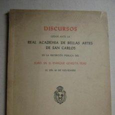 Libros antiguos: DISCURSOS LEIDOS ANTE LA REAL ACADEMIA DE SAN CARLOS.168. Lote 33241749