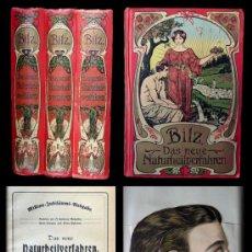Libros antiguos: F. E. BILZ BILZ. DAS NEUE NATURHEILVERFAHREN ( III TOMOS COMPLETO ). Lote 33247146