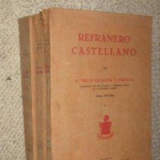 Libros antiguos: REFRANERO CASTELLANO, POR JULIO CEJADOR Y FRAUCA (OBRA PÓSTUMA) 1ª ED. 1928, 3 VOLS. MUY RARO. Lote 33371933